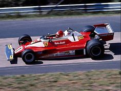 Niki Lauda at the practice for German Grand Prix 1976
