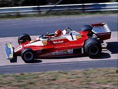 Niki Lauda at the practice for German Grand Prix 1976