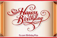 Pleated Gold Happy Birthday Card