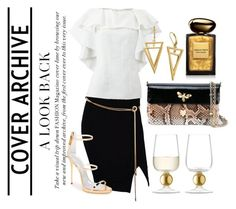 """A look back"" by bijouxinedit ❤ liked on Polyvore featuring Tadashi, Lanvin, Giuseppe Zanotti, Dolce&Gabbana, Giorgio Armani and LSA International"