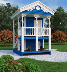 Luxury Doghouse & Playhouse 9590   The House Designers