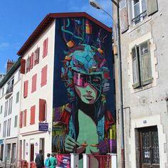 "Another awesome wall by @deih.xlf - ""ARE YOU READY?"" made for @pdvstreetartweek in Bayonne France  #deih #mural #streetart #urbanart #wallart #graffiti #bayonne #france #wallart #art #artoftheday #muralism"