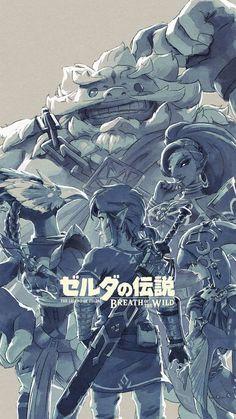 Link, Urbosa, Mipha, Revali et Daruk-The Legend of Zelda