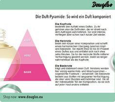 Duft Pyramide: so wird ein Duft komponiert. Finde deinen Duft bei Douglas. ♥