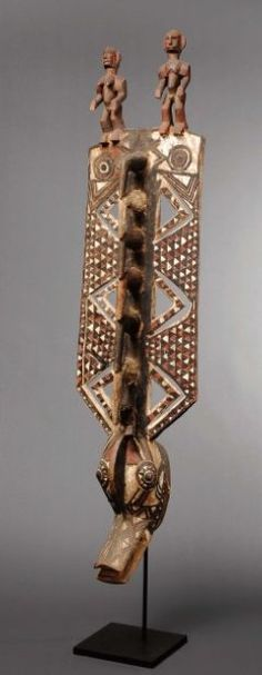Africa | Mask from the Gurunsi people of Burkina Faso | Wood and pigments
