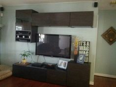 Ikea besta unit. Entertainment media center.