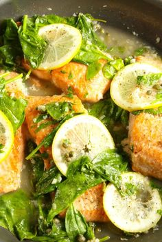 Garlic-Lemon Salmon  - http://Delish.com