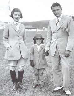 John and Janet Bouvier with 5-year-old daughter Jacqueline (as in the future Kennedy) attending a horse show in Southampton in 1934. Courtesy of Bettmann/Corbis