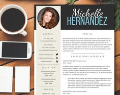 3 Page Pack Professional Resume Template,Creative Resume for MS Word, Resume Template Instant Download for Mac and PC,Resume with Photo by SuccessTools on Etsy