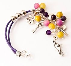 Lilac and yellow treasury by Anna Al on Etsy Pandora Charms, Lilac, Anna, Charmed, Yellow, Bracelets, Etsy, Jewelry, Fashion