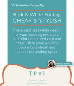 How black and white printing is inexpensive and stylish for your DIY wedding invitations. http://www.downloadandprint.com/blog/3-diy-matelasse-mat-a-what-wedding-invitations/
