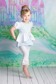 Glass Slipper Princess  - Cinderella Inspired   Looking for cute combos to match your favorite brands like Matilda Jane , Eleanor Rose and Smocked Overstock check out www.adorableessentials. com - Adorable Essentials at Affordable Prices. #aerepabigail