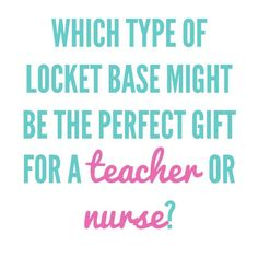 {O2} Trivia:  Which type of locket base might be the perfect gift for a teacher or nurse? brandieyost.origamiowl.com