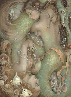 Sleeping Mermaids by C.P. Wyatt (****Duplicate Pin)