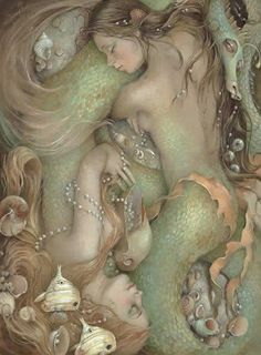 Sleeping Mermaids by C.P. Wyatt (****Duplicate Pin)