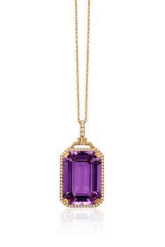 'Gossip' Lavender Amethyst Pendant in 18k Pink Gold