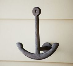 Anchor Hook - Love the look and feel of these hooks in the guest bath.  Pros: value, good look and heft, can fit two towels on either side of hook if you have a lot of visitors.  Cons: towels dry best when put on the top of the anchor (one towel per hook), but then you can't see the hook. - SGS