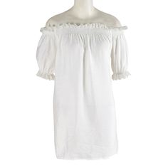 ==> [Free Shipping] Buy Best New Fashion White Lace Plus Size Off The Shoulder Shirts Loose Elastic Ruffle Bell Sleeve Blouses Peasant Tops Free Shipping Online with LOWEST Price   32737624716