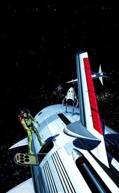 Retro-Futuristic, Sci-Fi, Space Fiction, Ed Valigursky, Outside the Universe Alien Concept Art, World Of Tomorrow, Days Of Future Past, Astronauts In Space, Retro Futuristic, Science Fiction Art, Fantasy Illustration, Out Of This World, Space Travel