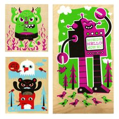 Wood Prints | Tad Carpenter Creative