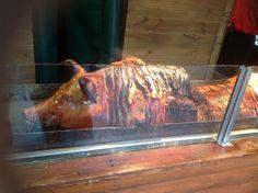 Roast pig at Manchester Christmas Market Manchester Christmas Markets, Pig Roast, Beef, Food, Meat, Pork Roast, Essen, Meals, Yemek
