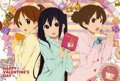 Ui, Azusa and Jun, from K-ON!