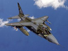SEPECAT Jaguar, an Anglo-French jet attack aircraft. First flight Royal Air Force of Oman. Military Jets, Military Weapons, Military Aircraft, Jaguar, Fighter Aircraft, Fighter Jets, Equador Quito, War Jet, Indian Air Force