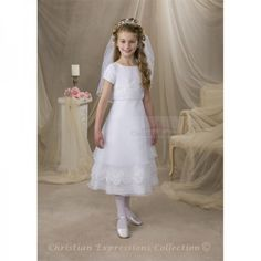 first communion dresses style 8005 - First Communion Dresses by Christian Expressions