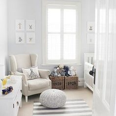 White and Gray Nursery, Contemporary, nursery, Lay Baby Lay