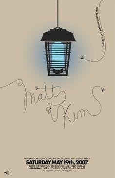 matt & kim concert poster