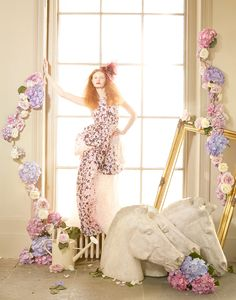 Tale of the Flower Girl - Harrods Magazine on Behance