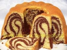 Bábovka se zakysanou smetanou - My site Small Desserts, Low Carb Desserts, Baking Recipes, Dessert Recipes, Czech Recipes, Healthy Cake, Cafe Food, Sweet Cakes, Pound Cake