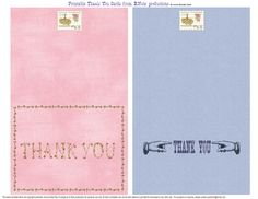 bnute productions: Free Printable Thank You Cards for Anytime