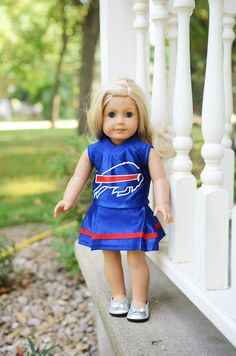 451453094 American Girl Doll Buffalo Bills NFL cheerleader outfit