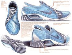 Tennis Shoe Sketch Easy To Copy