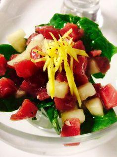 Tartare di tonno, melone bianco e zenzero