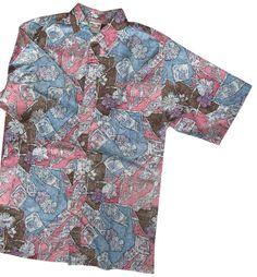 Hawaii Aloha Shirt Reverse Print Button Front Go Barefoot Authentic L New #GoBarefoot #Hawaiian