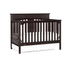 Graco Lauren Signature Convertible Crib - Espresso: crib, toddler bed, full size with headboard/footboard