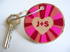 HEART KEYCHAIN…A personalized Valentine's Day gift for your loved one  www.etsy.com/listing/177081417/valentines-day-gift-heart-keychain