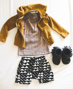 Toddler Fall outfit! Warm colors and fun prints!