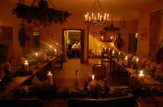 banquet by candlelight  - Weddings at Huntstile Farm