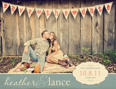beautiful photos.  even cuter save the date.