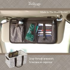 Car clutter organization made easy with the Made In The Shade Pocket