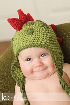 CROCHET PATTERN Dinosaur Hat 5 Sizes by speckledfrogcrochet, $4.99