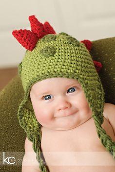 CROCHET PATTERN Dinosaur Hat 5 Sizes by speckledfrogcrochet, $4.99