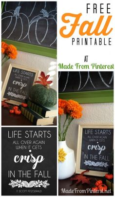 Free Fall Printable by Made From Pinterest