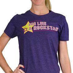 Womens Everyday Runners Tee Run Like A Rockstar   Running Womens Cotton Tshirts
