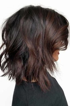 18 Medium Length Hairstyles for Thick Hair Inverted Messy Lob With Side Bangs ❤ Try one of these 55 funky medium length hairstyles for thick hair. Thicker hair can be a pain to style, but with the right cut you can look like a goddess. Medium Long Hair, Medium Hair Cuts, Medium Hair Styles, Curly Hair Styles, Medium Length Hair With Layers And Side Bangs, Funky Medium Haircuts, Long Bob Haircuts With Layers, Hairstyles For Medium Length Hair With Bangs, Long Bob Bangs