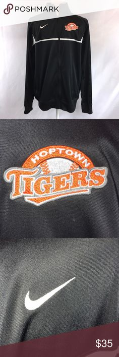 Mens Nike Hoptown Tigers Baseball Zip Up Jacket Mens Black White Orange Nike Hoptown Tigers Baseball Zip Up Jacket Size Medium Nike Jackets & Coats