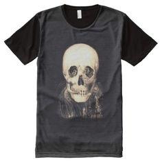#Skull Illusion All-Over-Print T-Shirt - #Halloween #happyhalloween #festival #party #holiday
